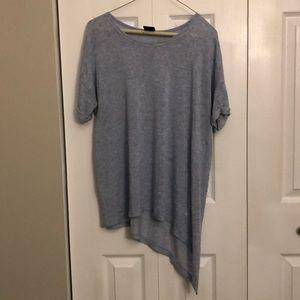 2 for $20 Bobeau asymmetrical blue tunic